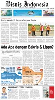 Cover Bisnis Indonesia 22 Juni 2018