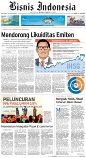 Cover Bisnis Indonesia 23 Juni 2018