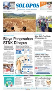 Harian Umum SOLOPOS Cover 23 February 2018