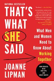 That's What She Said by Joanne Lipman Cover