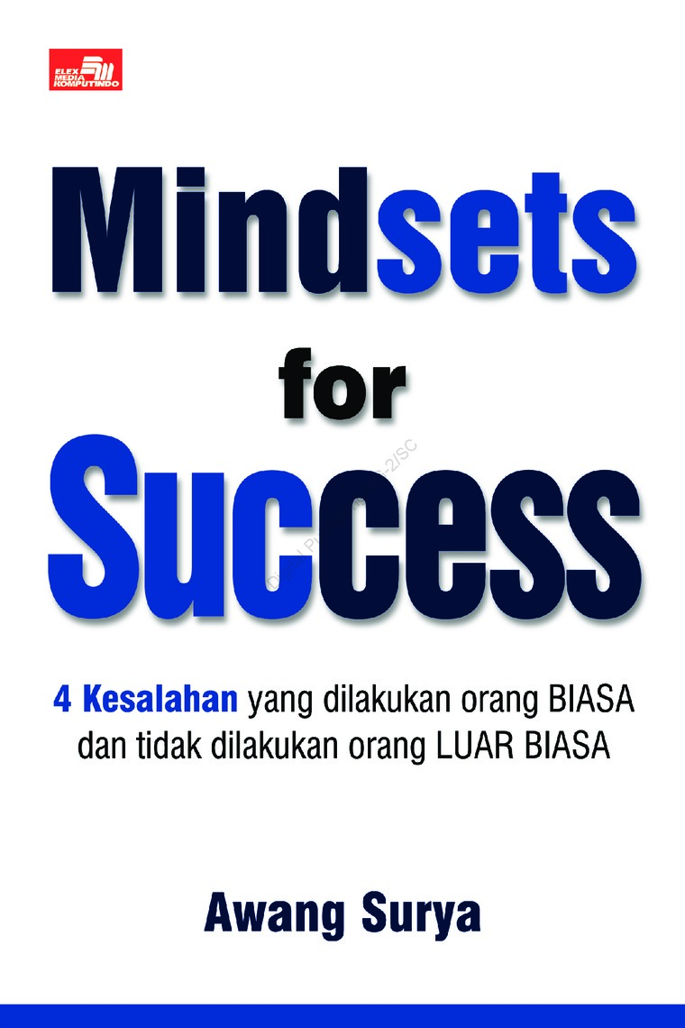 Buku Digital Mindsets for Success oleh Awang Surya