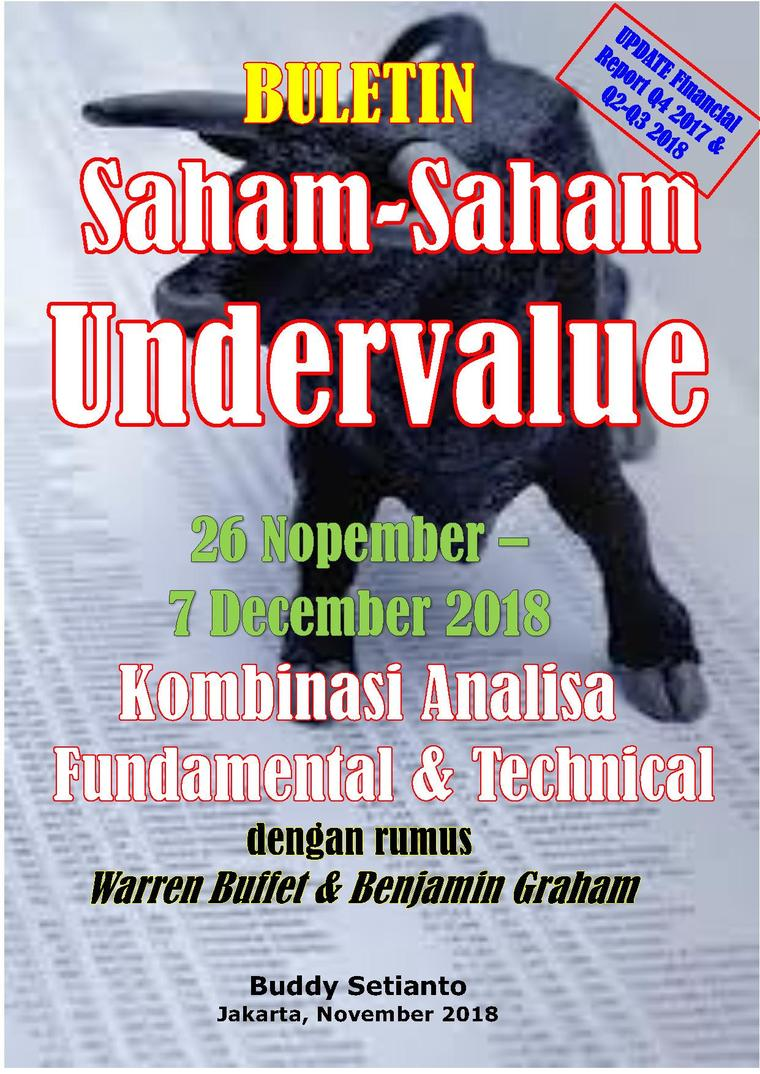 Buletin Saham-Saham Undervalue 26-07 DEC 2018 - Kombinasi Fundamental & Technical Analysis by Buddy Setianto Digital Book