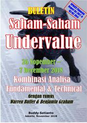 Cover Buletin Saham-Saham Undervalue 26-07 DEC 2018 - Kombinasi Fundamental & Technical Analysis oleh Buddy Setianto