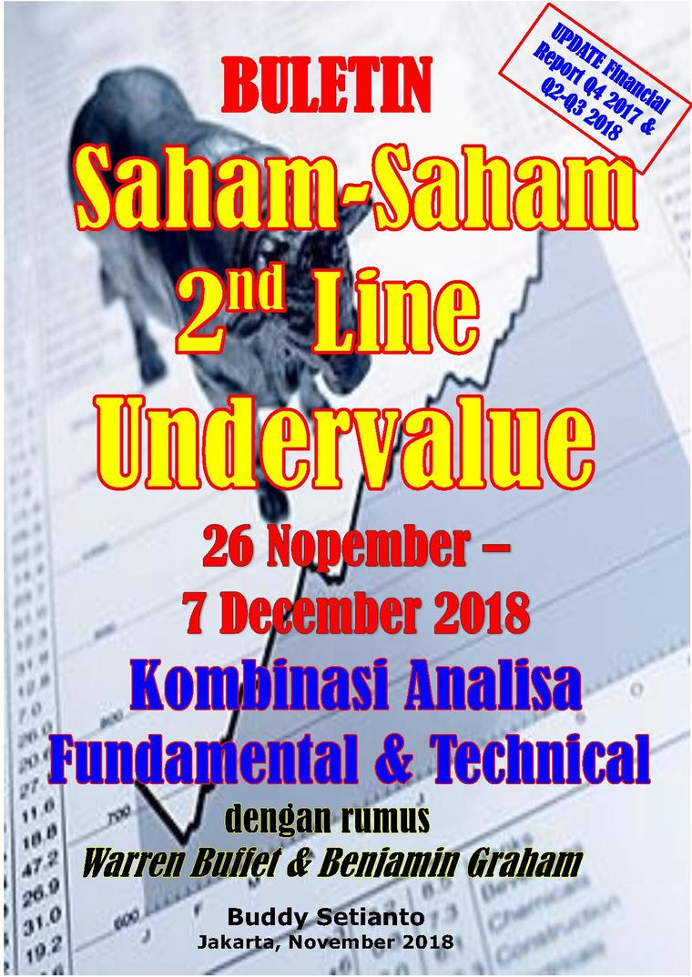Buku Digital Buletin Saham-Saham 2nd Line Undervalue 26-07 DEC 2018 - Kombinasi Fundamental & Technical Analysis oleh Buddy Setianto