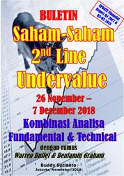 Cover Buletin Saham-Saham 2nd Line Undervalue 26-07 DEC 2018 - Kombinasi Fundamental & Technical Analysis oleh Buddy Setianto