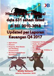Historical Key financial data 613 saham listed di BEI 2010-2018 Updated per Laporan Keuangan Q4 2017 by Buddy Setianto Cover