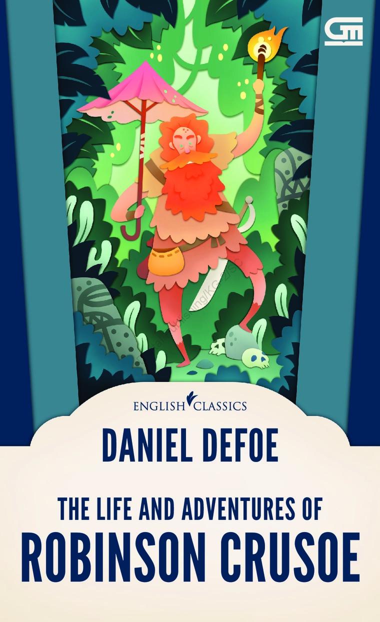 Buku Digital English Classics: Robinson Crusoe oleh Daniel Defoe