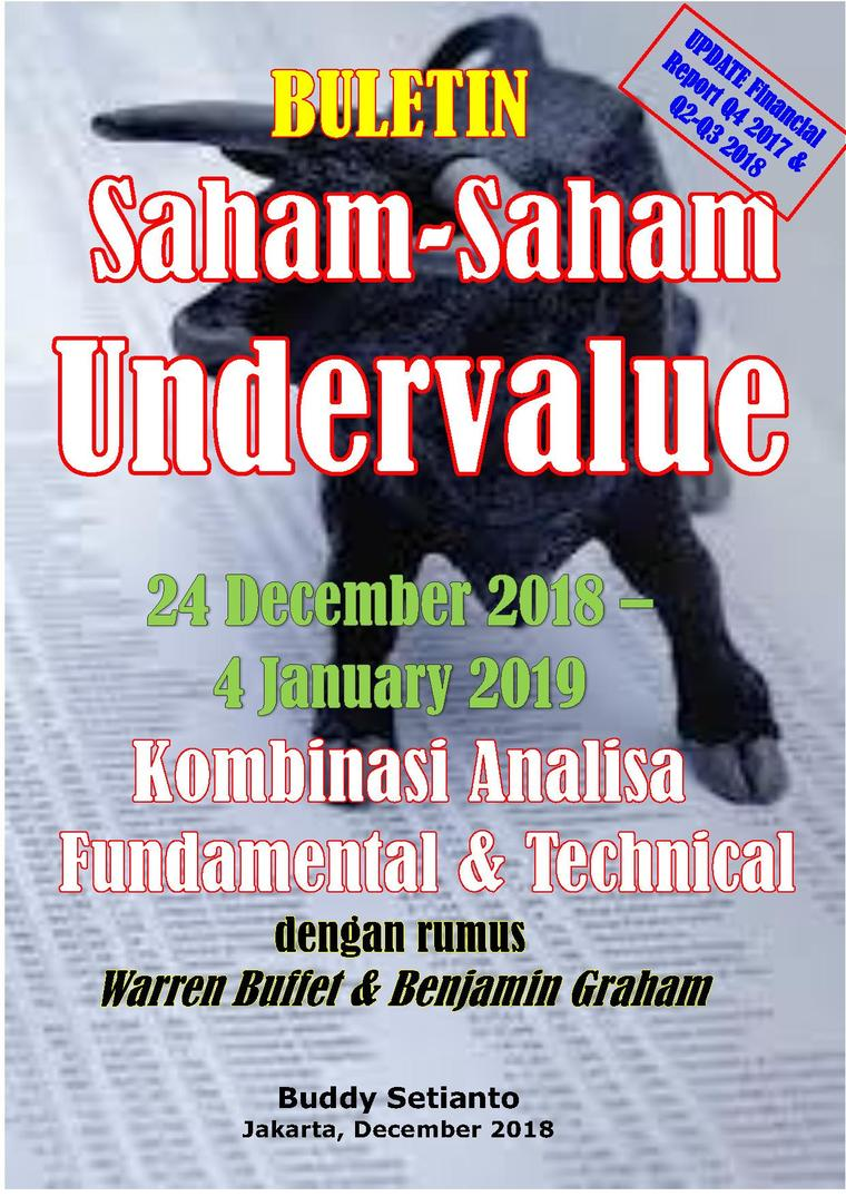 Buku Digital Buletin Saham-Saham Undervalue 24-04 JAN 2019 - Kombinasi Fundamental & Technical Analysis oleh Buddy Setianto