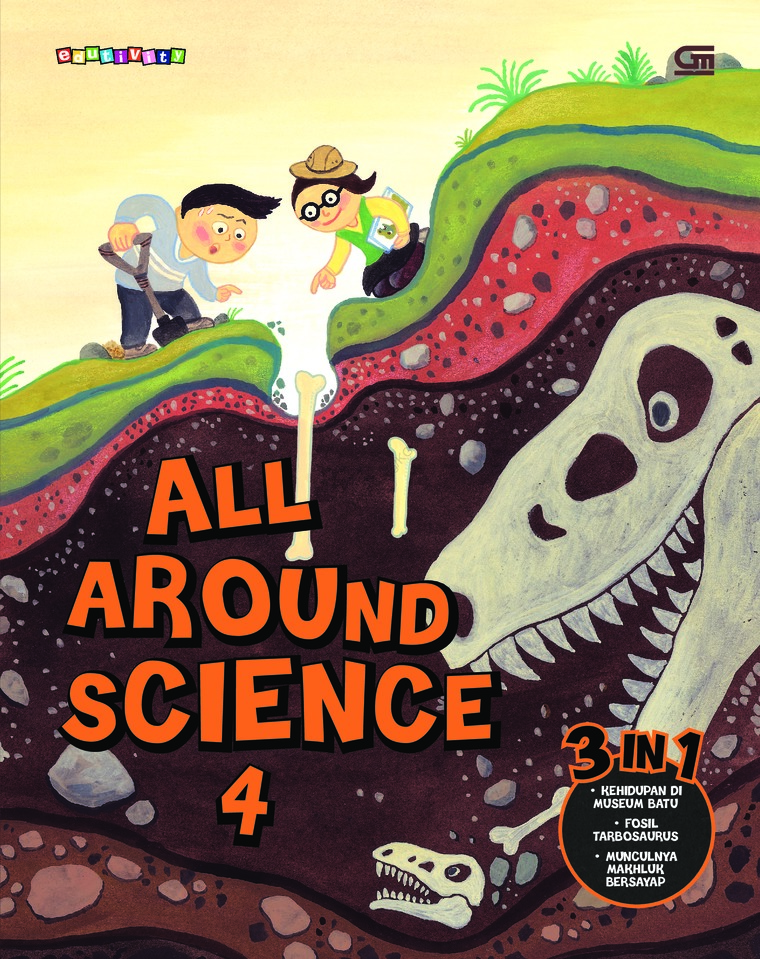 Buku Digital All Around Science#4 (Night at The Stone Museum; The Story of Tarbosaurus; The Birth of Wings) oleh Woongjin Think Big Co. Ltd