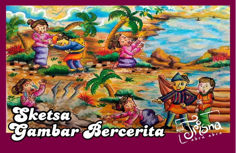 Jual Buku Sketsa Gambar Bercerita Oleh Trisna Ambar Wati Trisna