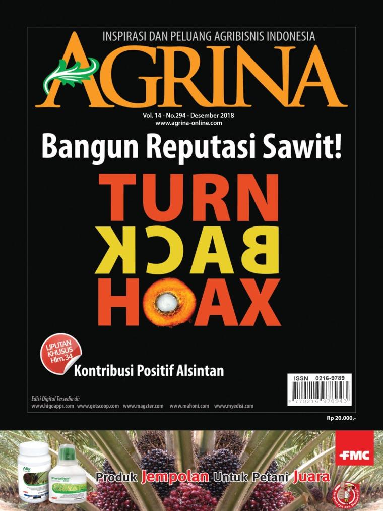 Majalah Digital Agrina ED 294 Desember 2018