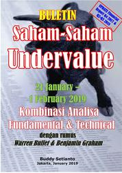Cover Buletin Saham-Saham Undervalue 21-01 FEB 2019 - Kombinasi Fundamental & Technical Analysis oleh Buddy Setianto