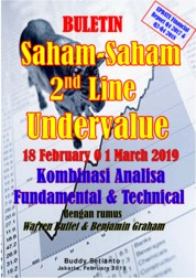 Cover Buletin Saham-Saham 2nd Line Undervalue 18-01 MAR 2019 - Kombinasi Fundamental & Technical Analysis oleh Buddy Setianto