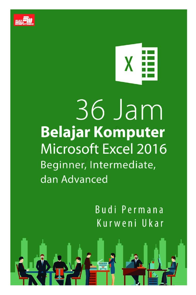 36 Jam Belajar Komputer Microsoft Excel 2016 Beginner, Intermediate, dan Advanced by Budi Permana & Kurweni Ukar Digital Book