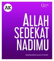 Allah Sedekat Nadimu by A.K Cover