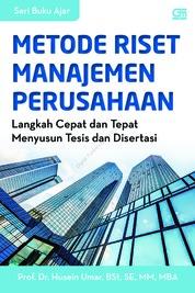 Cover Metode Riset Manajemen Perusahaan oleh Prof. Dr. Husein Umar