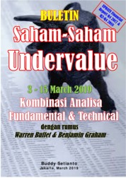 Buletin Saham-Saham Undervalue 03-15 MAR 2019 - Kombinasi Fundamental & Technical Analysis by Buddy Setianto Cover