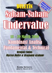 Cover Buletin Saham-Saham Undervalue 18-29 MAR 2019 - Kombinasi Fundamental & Technical Analysis oleh Buddy Setianto