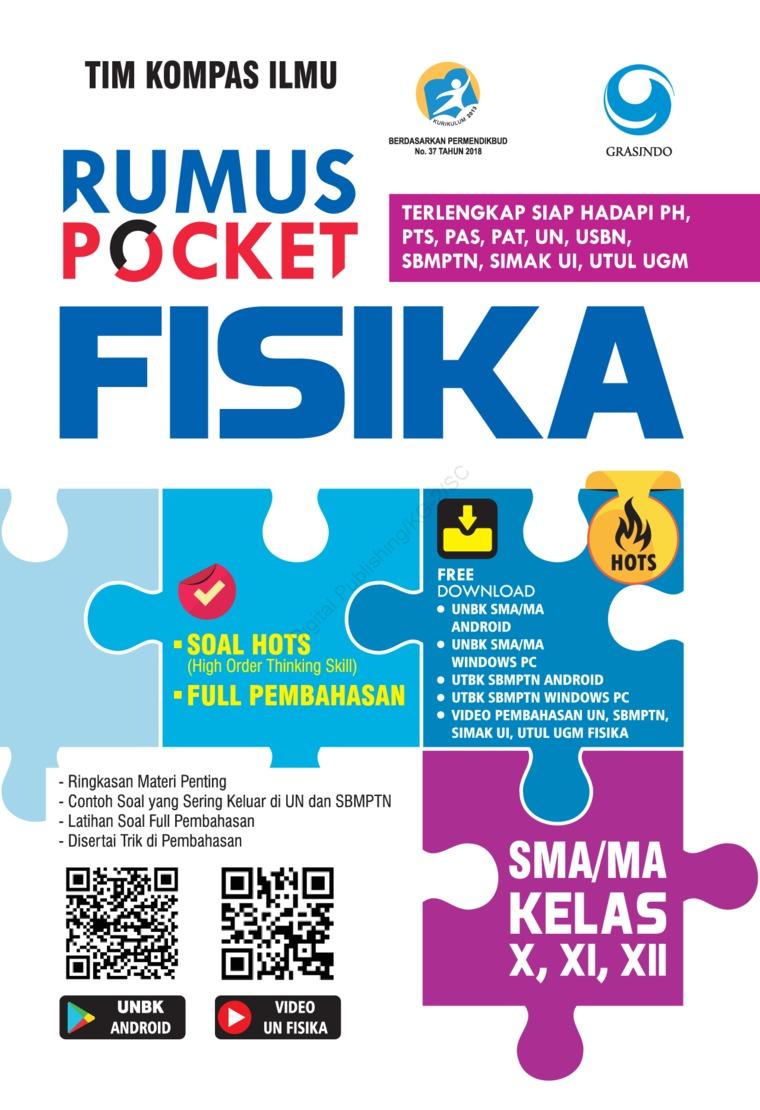 Rumus Pocket Fisika SMA Kelas X, XI, XII by Tim Kompas Ilmu Digital Book