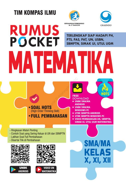 Rumus Pocket Matematika SMA Kelas X, XI, XII by Tim Kompas Ilmu Digital Book