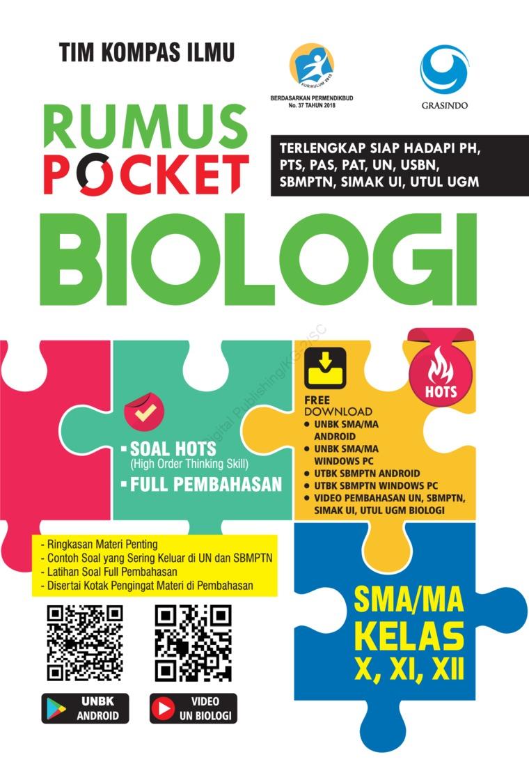 Rumus Pocket Biologi SMA Kelas X, XI, XII by Tim Kompas Ilmu Digital Book