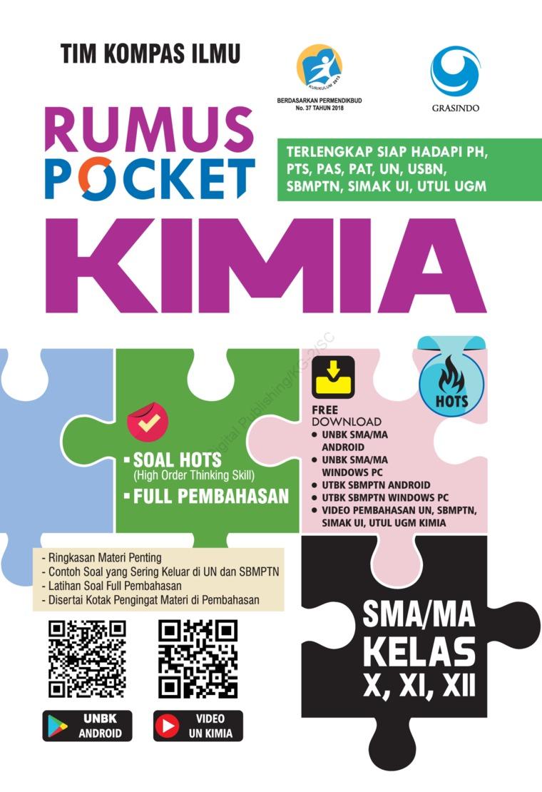 Rumus Pocket Kimia SMA Kelas X, XI, XII by Tim Kompas Ilmu Digital Book