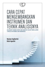 Cover Cara Cepat Mengembangkan Instrumen dan Teknik Analisisnya oleh Nyoman Sugihartini, S.Pd., M.Pd.