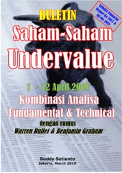 Cover Buletin Saham-Saham Undervalue 01-12 APR 2019 - Kombinasi Fundamental & Technical Analysis oleh Buddy Setianto
