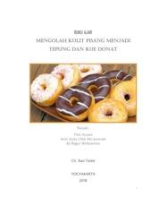 Cover Buku Ajar Mengolah Kulit Pisang Menjadi Tepung dan Kue Donat oleh Titin Aryani