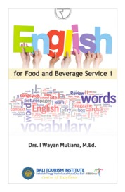 Cover English for Food and Beverage Service 1 oleh Drs. I Wayan Muliana, M.Ed.