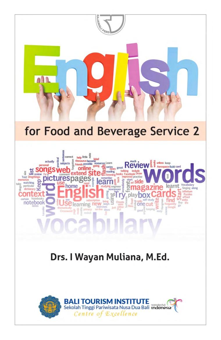 Buku Digital English for Food and Beverage Service 2 oleh Drs. I Wayan Muliana, M.Ed.