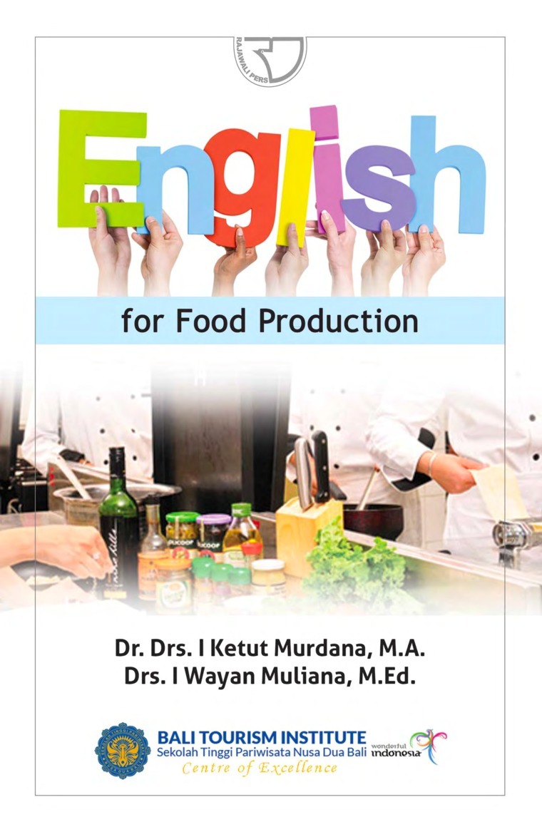 Buku Digital English for Food Production oleh Drs. I Ketut Murdana, MA Drs. I Wayan Muliana, M.Ed.