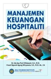 Cover Manajemen Keuangan Hospitaliti oleh Dr. Ida Ayu Putri Widawati, SE., M.Si
