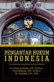 Cover Pengantar Hukum Indonesia ( Zaeni ) oleh H. Zaeni Asyhadie, S.H., M.Hum