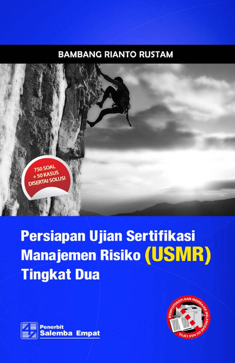 Buku Digital Persiapan Ujian Sertifikasi Manajemen Risiko (USMR) Tingkat Dua oleh Bambang Rianto Rustam