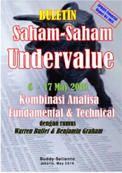 Cover Buletin Saham-Saham Undervalue 06-17 MAY 2019 - Kombinasi Fundamental & Technical Analysis oleh Buddy Setianto