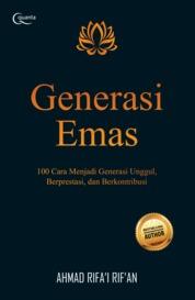 Cover Generasi Emas oleh Ahmad Rifa`i Rif`an