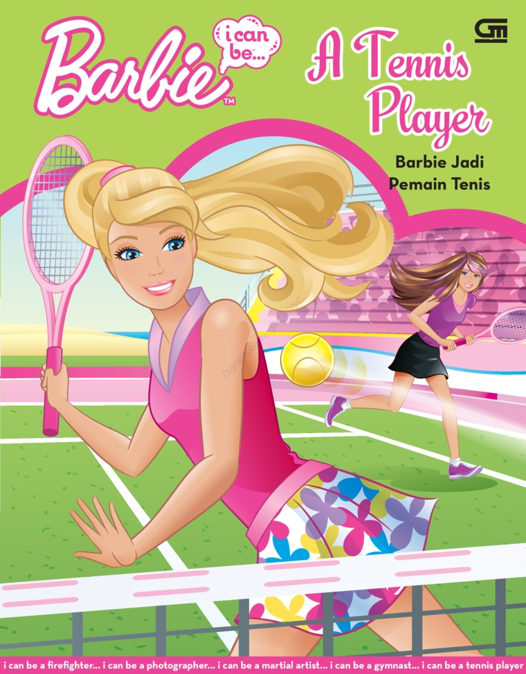 Buku Digital Barbie I Can Be: Barbie Jadi Pemain Tennis oleh Mattel