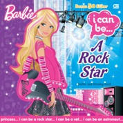 Cover Barbie I Can Be: Barbie jadi Bintang Rock (Rock Star) oleh Mattel