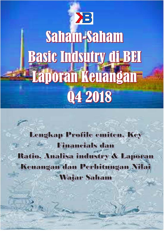 Buku Digital Saham-Saham Basic Industry & Chemical di BEI per Laporan Keuangan Q4 2018 oleh Buddy Setianto