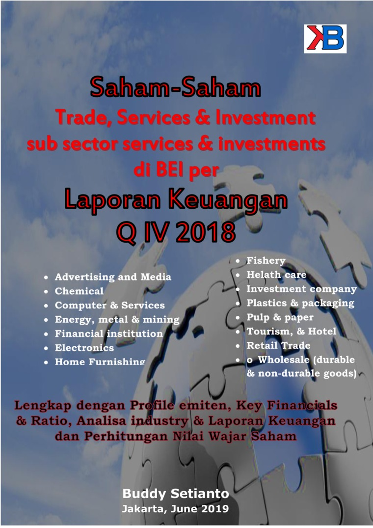 Saham-Saham Trade, Services & Investments di BEI per Laporan Keuangan Q4 2018 by Buddy Setianto Digital Book