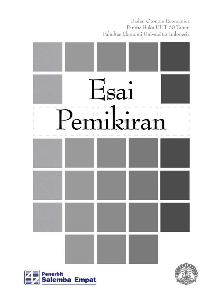 Esai Pemikiran by Badan Otonom Economica (BOE) FEB-UI Digital Book