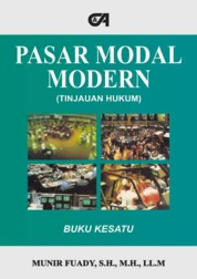 Pasar Modal Modern (Tinjauan Hukum) Buku Kesatu by Munir Fuady, S.H., M.H., LL.M. Cover