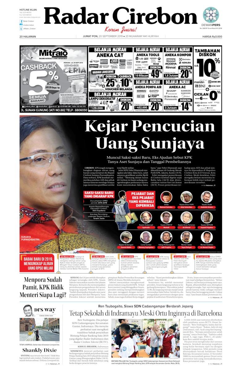 Koran Digital Radar Cirebon 20 September 2019