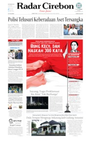 Radar Cirebon Cover 16 August 2019