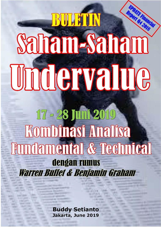 Buletin Saham-Saham Undervalue 17-28 JUN 2019 - Kombinasi Fundamental & Technical Analysis by Buddy Setianto Digital Book