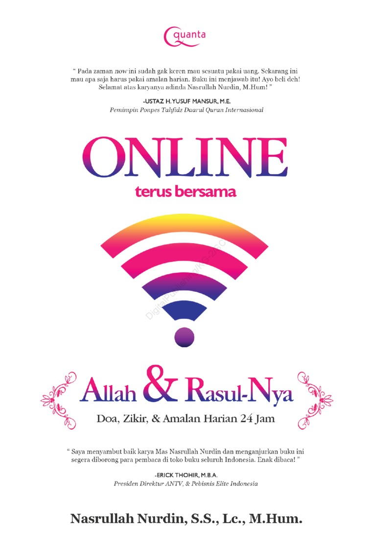Online Terus Bersama Allah dan Rasul-Nya; Doa, Zikir, dan Amalan Harian 24 Jam by Nasrullah Nurdin, S.S., Lc., M.Hum. Digital Book