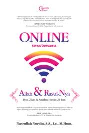Online Terus Bersama Allah dan Rasul-Nya; Doa, Zikir, dan Amalan Harian 24 Jam by Nasrullah Nurdin, S.S., Lc., M.Hum. Cover