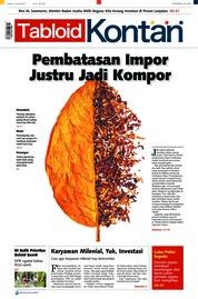 Cover Majalah Kontan ED 15 Januari 2018