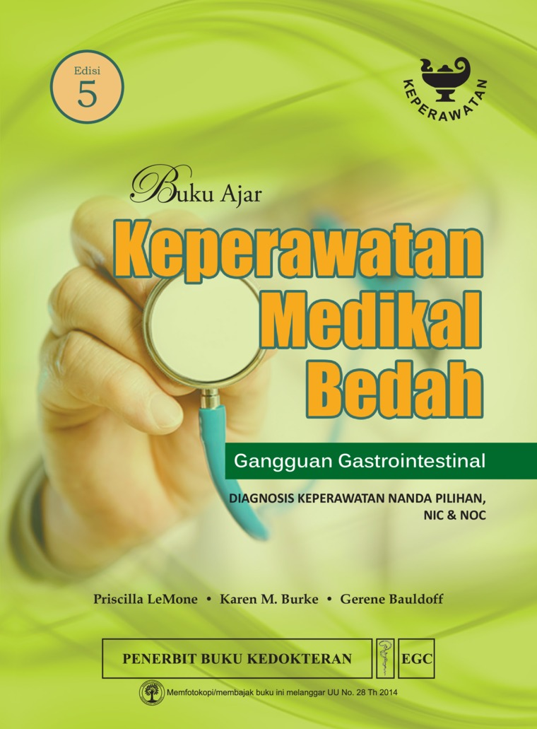Buku Ajar Keperawatan Medikal Bedah Gangguan Gastrointestinal Edisi 5 by Priscilla Lemone Digital Book